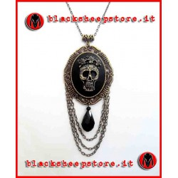 "Collana ""Antique mexican skull"" calavera"