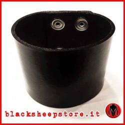 Bracciale in cuoio nero 5cm