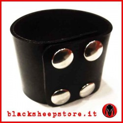 Bracciale in cuoio 5cm made in Italy