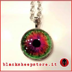 Ciondolo occhio umano multicolor