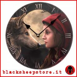 """Orologio da parete """" Cappuccetto rosso con lupo"""""""