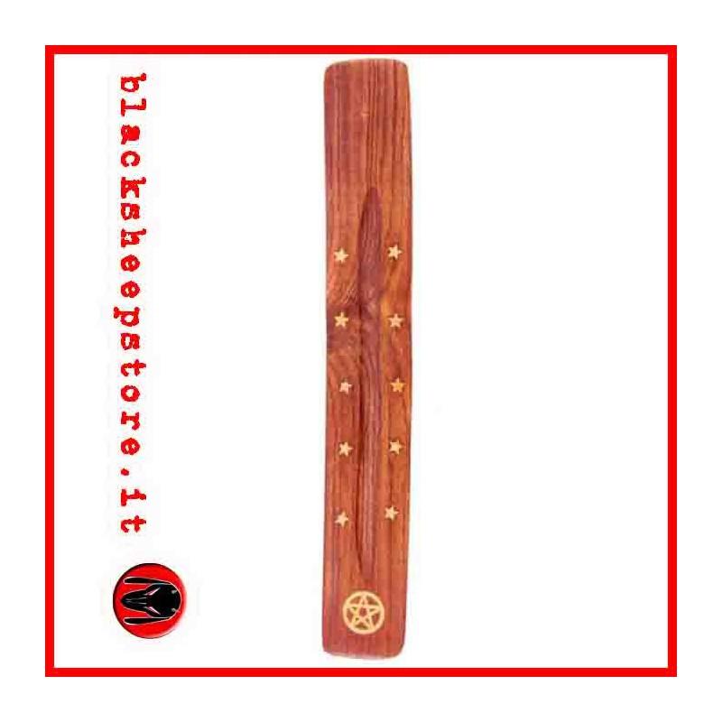 Bruciaincenso in legno con pentacolo