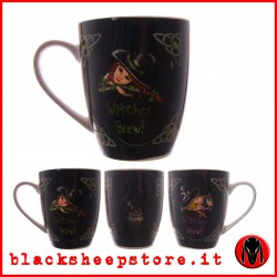 Tazza in ceramica con strega Witches brew