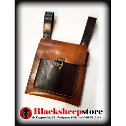 Scarsella in cuoio, borsa da cintura 2 colori
